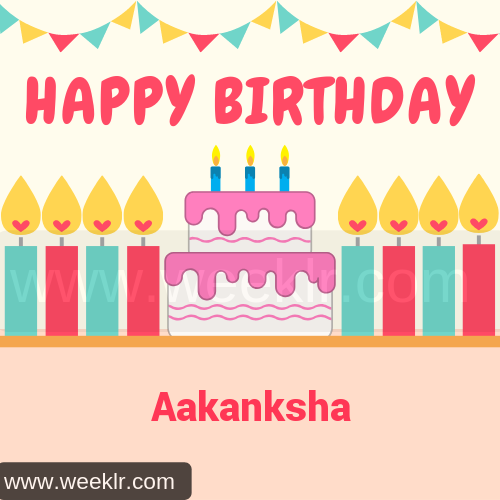 Candle Cake Happy Birthday  Aakanksha Image