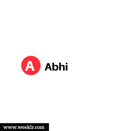 Logo and DP photo of Abhi Name