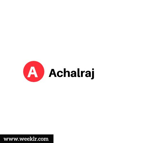 Logo and DP photo of Achalraj Name