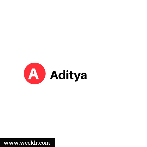 Logo and DP photo of Aditya Name