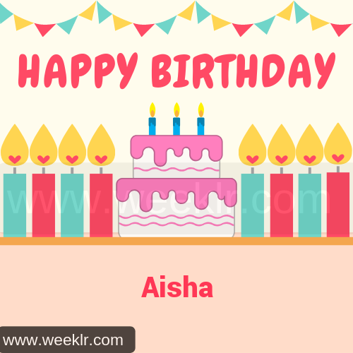 Candle Cake Happy Birthday  Aisha Image