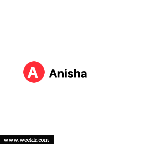 Logo and DP photo of Anisha Name