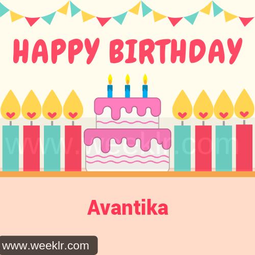 Candle Cake Happy Birthday  Avantika Image