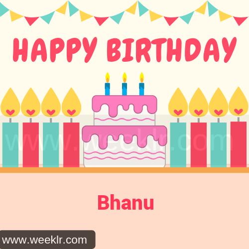 Candle Cake Happy Birthday  Bhanu Image