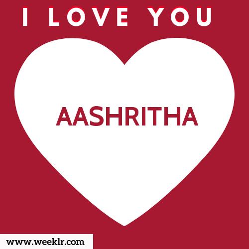AASHRITHA I Love You Name Wallpaper