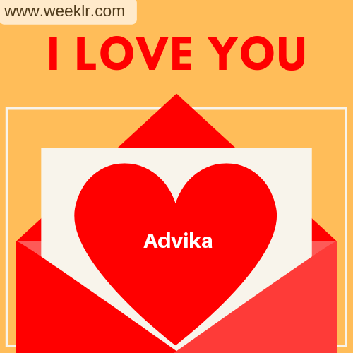 Advika I Love You Love Letter photo