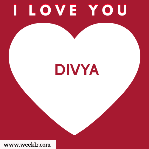 -DIVYA- I Love You Name Wallpaper