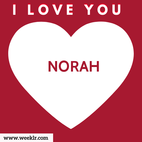 NORAH I Love You Name Wallpaper