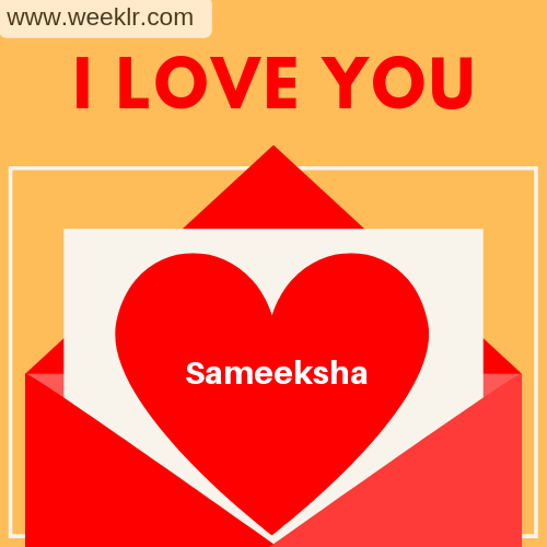 Sameeksha I Love You Love Letter photo