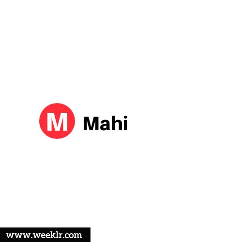 Logo and DP photo of Mahi Name