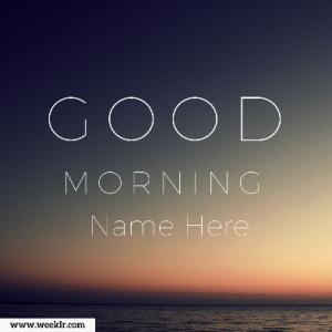 Make Good Morning Name Photos Online