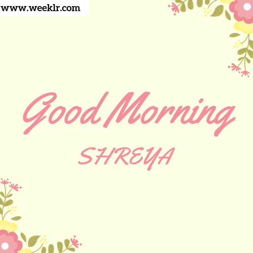 Good Morning SHREYA Images