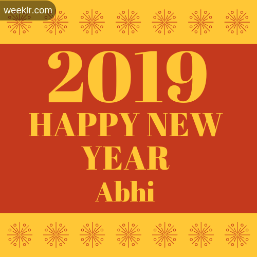 -Abhi- 2019 Happy New Year image photo