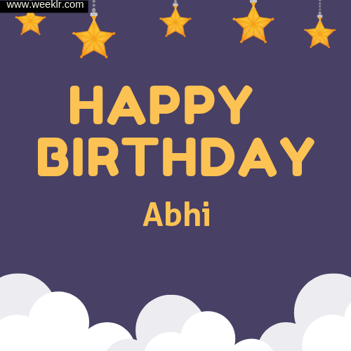 -Abhi- Happy Birthday To You Images
