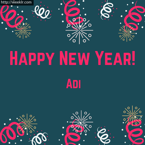 -Adi- Happy New Year Greeting Card Images