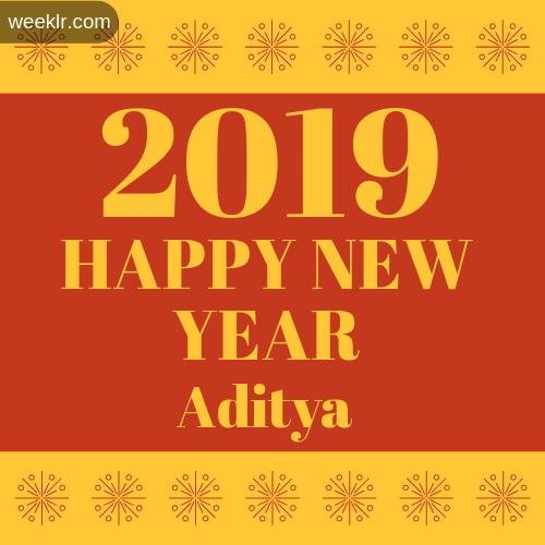 Aditya 2019 Happy New Year image photo