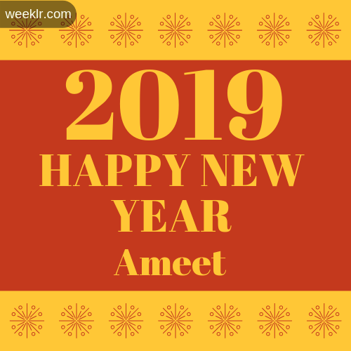 -Ameet- 2019 Happy New Year image photo
