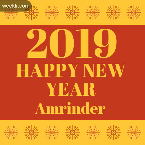-Amrinder- 2019 Happy New Year image photo