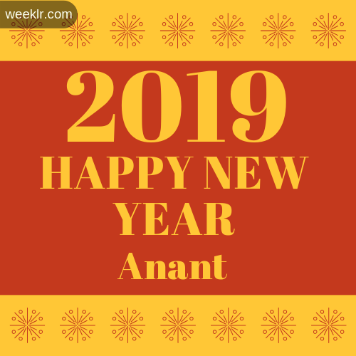 -Anant- 2019 Happy New Year image photo