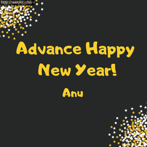 -Anu- Advance Happy New Year to You Greeting Image