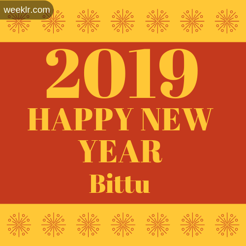 Bittu 2019 Happy New Year image photo