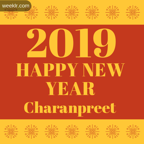 -Charanpreet- 2019 Happy New Year image photo