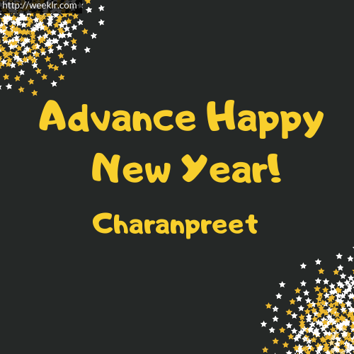 -Charanpreet- Advance Happy New Year to You Greeting Image