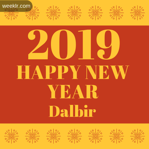 -Dalbir- 2019 Happy New Year image photo