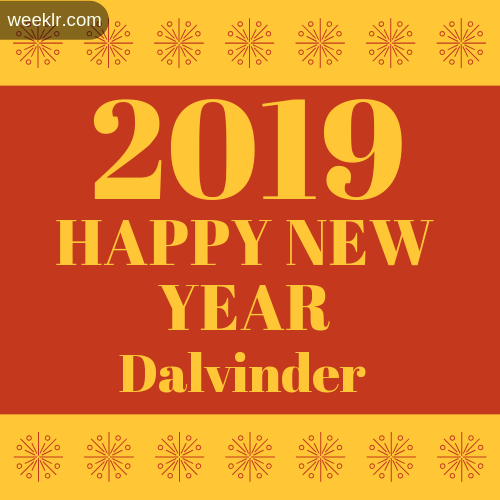 -Dalvinder- 2019 Happy New Year image photo