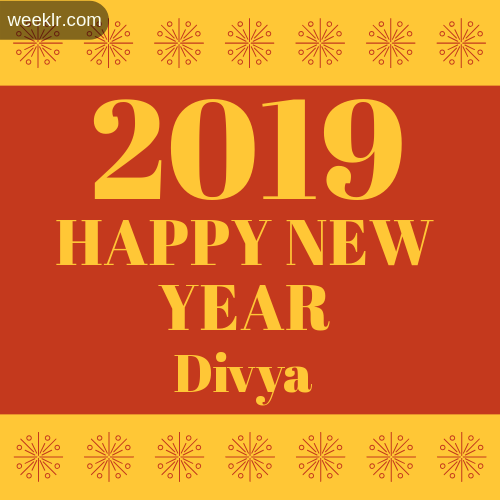 -Divya- 2019 Happy New Year image photo