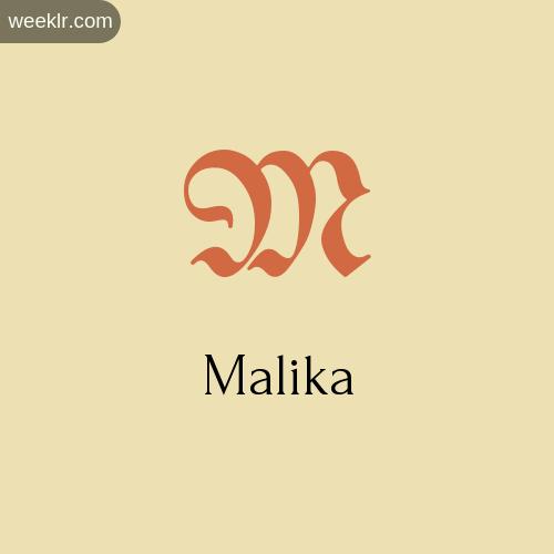 Download Free -Malika- Logo Image
