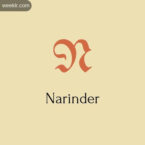 Download Free -Narinder- Logo Image