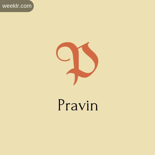 Download Free -Pravin- Logo Image