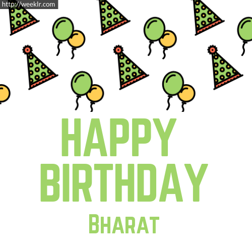 Download Happy birthday -Bharat- with Cap Balloons image