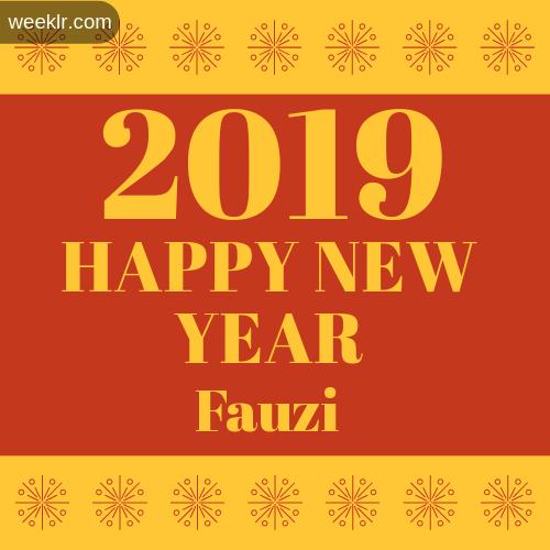 Fauzi 2019 Happy New Year image photo