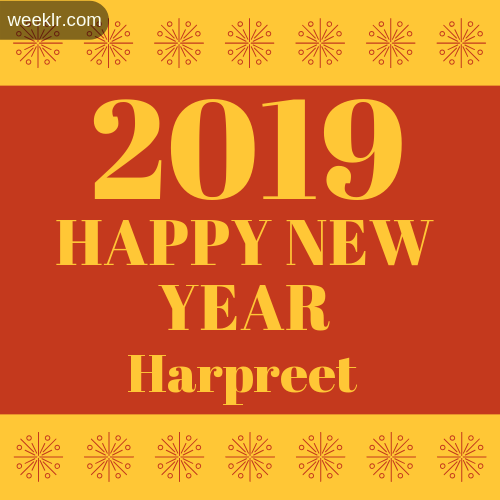 -Harpreet- 2019 Happy New Year image photo