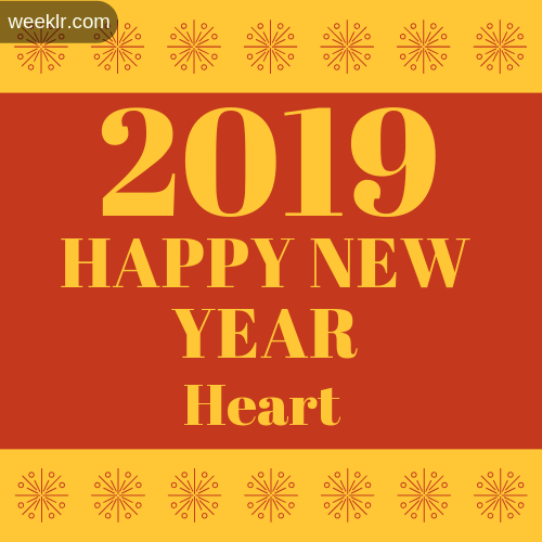 -Heart- 2019 Happy New Year image photo