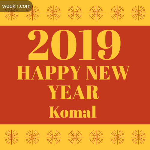 -Komal- 2019 Happy New Year image photo