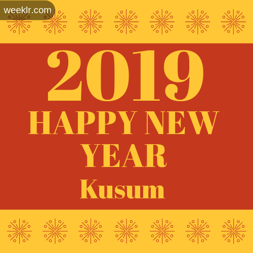 -Kusum- 2019 Happy New Year image photo