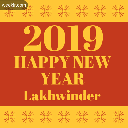 -Lakhwinder- 2019 Happy New Year image photo
