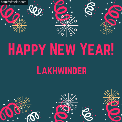 Lakhwinder Happy New Year Greeting Card Images