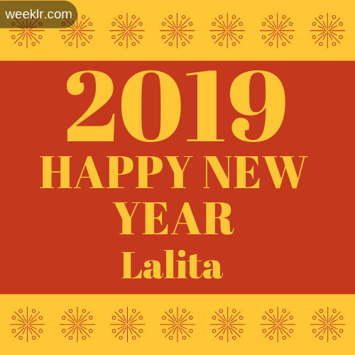 -Lalita- 2019 Happy New Year image photo