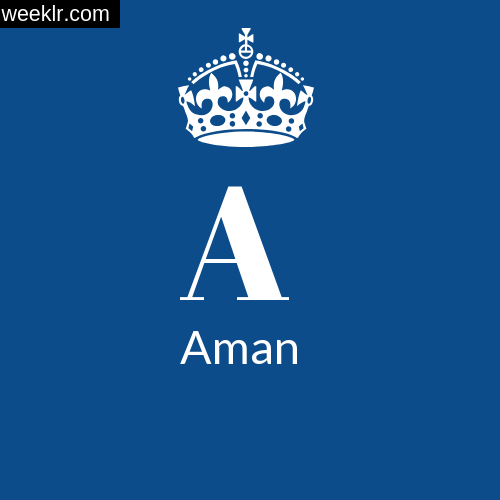 Make -Aman- Name DP Logo Photo