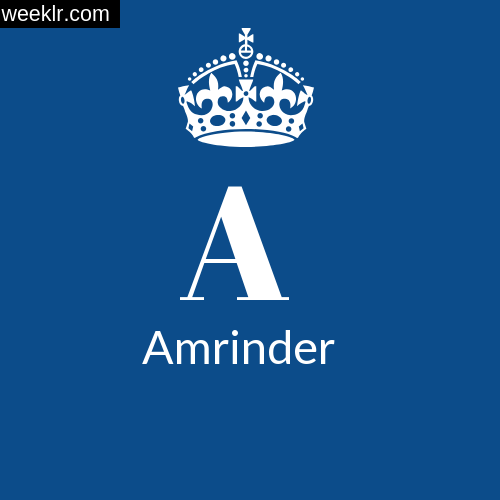 Make -Amrinder- Name DP Logo Photo