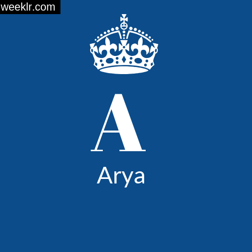 Make -Arya- Name DP Logo Photo