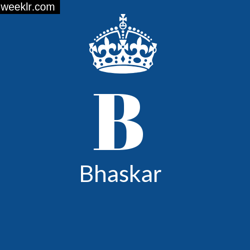 Make -Bhaskar- Name DP Logo Photo