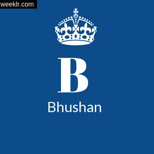 Make Bhushan Name DP Logo Photo