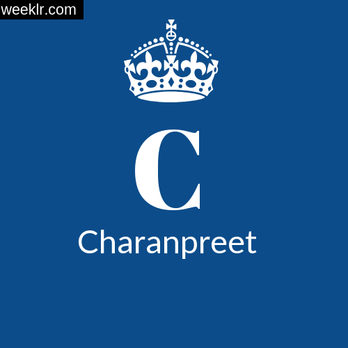 Make -Charanpreet- Name DP Logo Photo