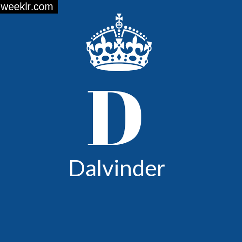 Make -Dalvinder- Name DP Logo Photo