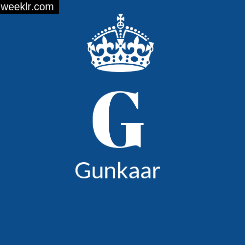Make -Gunkaar- Name DP Logo Photo